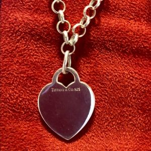 Authentic Tiffany & Co Heart Tag Blank Chocker